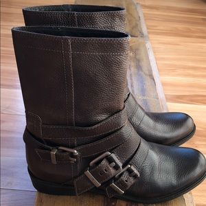 7 For All Mankind Brown Leather Boots